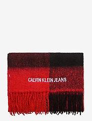 Calvin Klein - J BUFFALO CHECK WOOL - sjaals - black & red buffalo check - 2