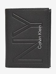 Calvin Klein - NY SHAPED FLAT 6CC - portefeuille classique - black - 0