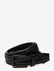 Calvin Klein - 35MM BRAIDED FIXED LEATHER BELT - braided belts - black - 0