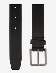 Calvin Klein - 30MM BROGUE BOMBED BELT - belts - black - 1