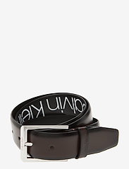 Calvin Klein - 35MM ADJ BOMBED BELT - riemen - dark brown - 0