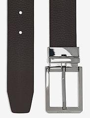 Calvin Klein - 35MM ADJ/REV SKIVED BUCKLE - ceintures classiques - black / dark brown - 3