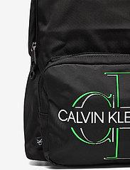 Calvin Klein - CAMPUS BP 43 GLOW - torby - black - 3