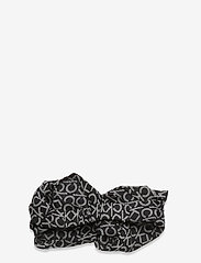 Calvin Klein - HEADBAND - hårbånd - black mono - 1