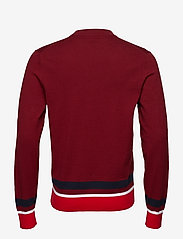 Calvin Klein - COLOR BLOCK COTTON W - knitted round necks - iron red - 1