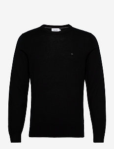 SUPERIOR WOOL CREW N - knitted round necks - ck black