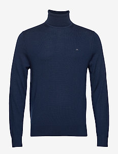 SUPERIOR WOOL TURTLE - basic strik - calvin navy