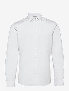 POPLIN EASY IRON FITTED SHIRT - podstawowe koszulki - df white