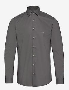 2PLY POPLIN STRETCH SLIM SHIRT - basic overhemden - charcoal