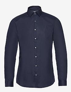 2PLY POPLIN STRETCH SLIM SHIRT - basic shirts - midnight blue