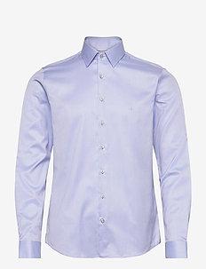 TWILL EASY IRON SLIM SHIRT - basic shirts - light blue
