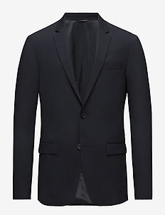 STRETCH WOOL SLIM SU - blazers met enkele rij knopen - midnight navy