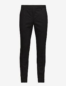 STRETCH WOOL SLIM SU - suit trousers - perfect black