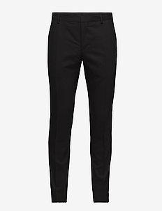 STRETCH WOOL SLIM SU - pantalons habillés - perfect black