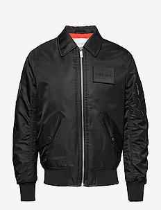LOGO BADGE FLIGHT JACKET - vestes bomber - perfect black