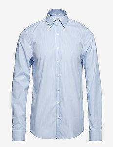 STRIPE EASY IRON SLI - business shirts - df light blue