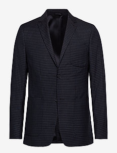 PEPITA CHECK PATCH P - single breasted blazers - calvin navy