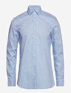 FLOWER STRETCH SLIM SHIRT - business shirts - df light blue