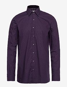 CLIPS STRETCH SLIM S - business shirts - dark plum