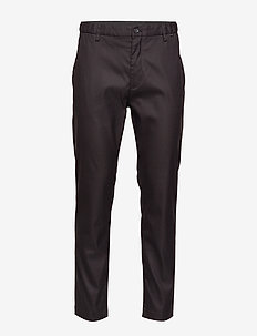 TAPERED ELASTIC TWILL PANT - chinos - calvin black
