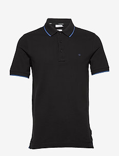 STRETCH TIPPING SLIM POLO - korte mouwen - calvin black