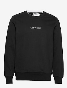 CARBON BRUSH LOGO SWEATSHIRT - basic sweatshirts - calvin black