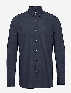 LIGHT HEATHER POPLIN SHIRT - basic overhemden - ck navy heather