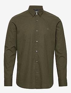 LIGHT HEATHER POPLIN SHIRT - basic overhemden - dark olive heather