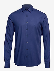 STRUCTURE EASY IRON SLIM SHIRT - NAVY