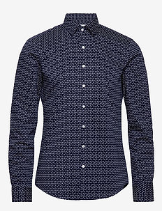 PAISLEY PRINTED SLIM SHIRT - NAVY