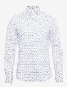PAISLEY PRINTED SLIM - casual overhemden - new navy