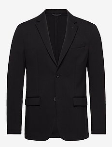 SOLID JERSEY CASUAL BLAZER - single breasted blazers - calvin black