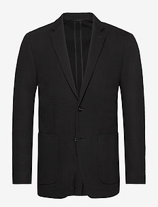 DOUBLE KNIT STRUCTURE BLAZER - single breasted blazers - calvin black