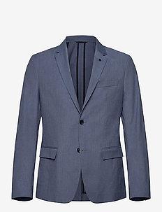 SUMMER MELANGE STRETCH BLAZER - blazers à boutonnage simple - dusky blue