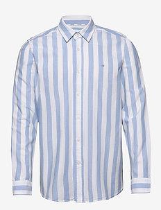 COTTON OXFORD STRIPE - oxford overhemden - bold stripe - white / vista bl