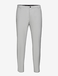 SUMMER CHAMBRAY PANT - suit trousers - light grey heather