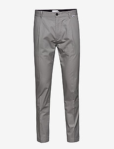 TAPERED PLEAT LIGHT, - suit trousers - alloy