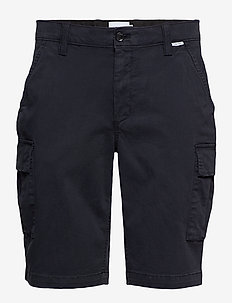 GARMENT DYED CARGO SHORTS - CALVIN NAVY