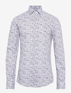 PRINTED EASY CARE SLIM SHIRT - casual overhemden - navy