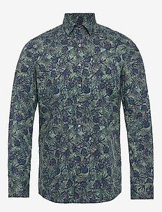 PALM PRINT SLIM SHIRT - casual overhemden - kalamata