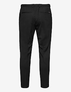 TRAVEL BATAVIA TAPERED PANTS - formele broeken - ck black