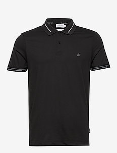 LIQUID TOUCH LOGO CUFF POLO - short-sleeved polos - ck black