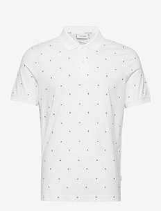 LIQUID CK MONOGRAM POLO - korte mouwen - bright white