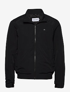 CASUAL NYLON BLOUSON JACKET - windjassen - ck black