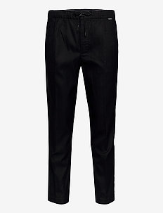 TAPERED ELASTIC DRAWSTRING PANT - casual byxor - ck black