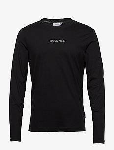 LIQUID LOGO LONG SLEEVE T-SHIRT - basic t-shirts - ck black