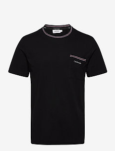 RINGER POCKET T-SHIRT - basic t-shirts - ck black