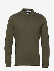 LIQUID TOUCH LONG SLEEVE POLO - long-sleeved - dark olive