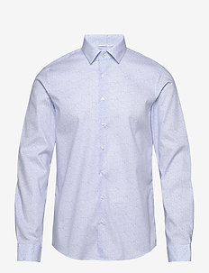 PRINTED STRETCH SLIM SHIRT - business shirts - light blue