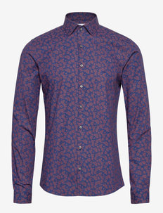 STRETCH PRINTED EXTRA SLIM SHIRT - casual overhemden - winetasting